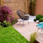 modern wood terrace and garden | Small Garden Ideas And Tips | How To Design Gardens In Limited Spaces | small garden ideas | small garden | Featured
