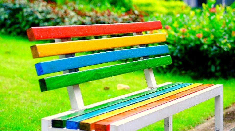 colored bench | Relaxing Outdoor Garden Benches Perfect For Your Summer Garden | Featured