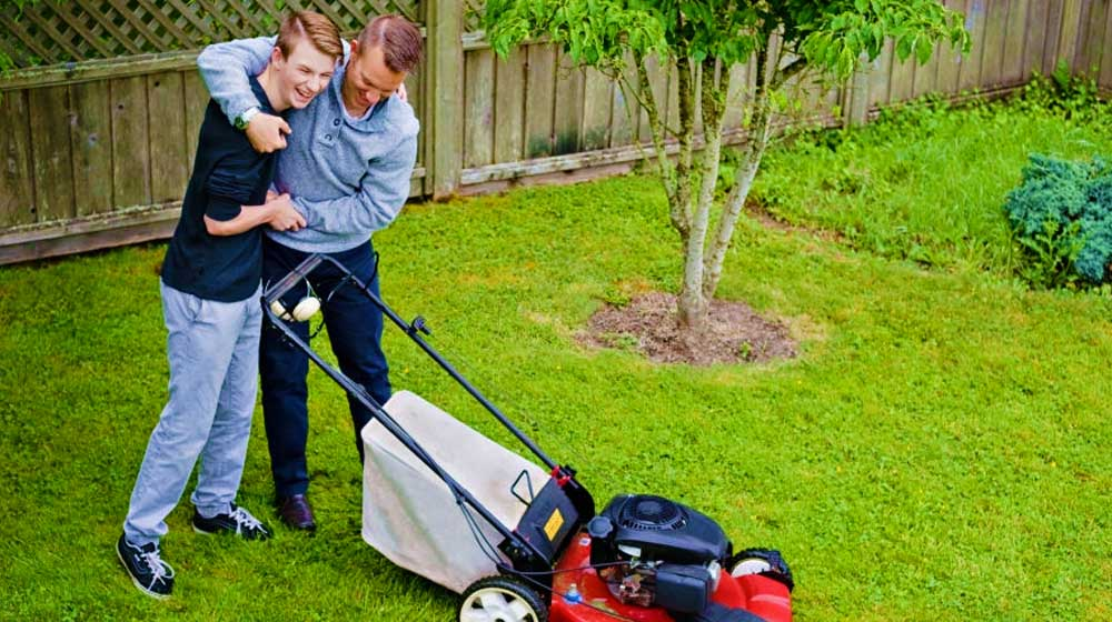 Learning to Cut the Grass | Gardening Gifts For Dad on Father's Day | cool tools for dad | featured